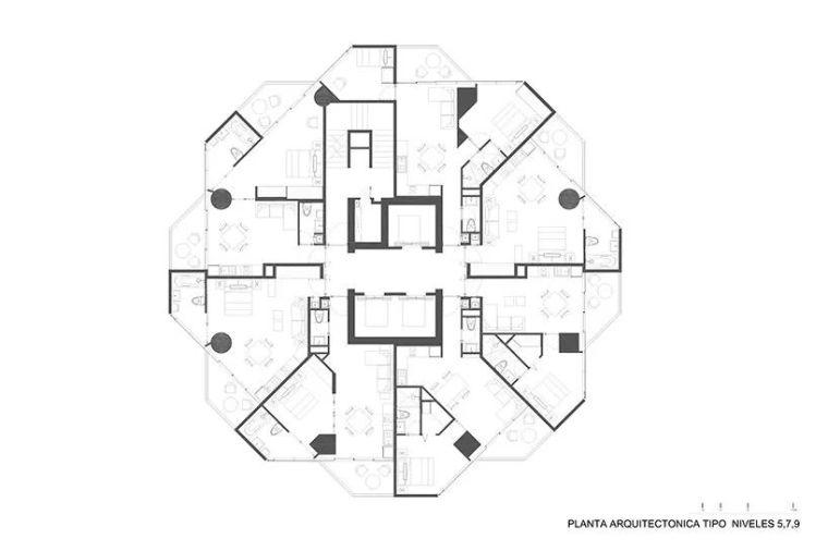 """""""八角形""""高层公寓建筑_11"""