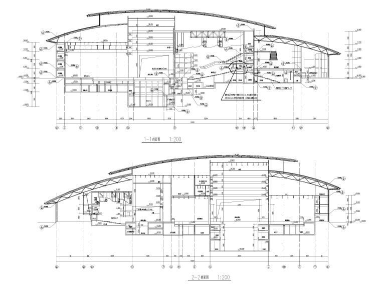 吉林大型四层框架剪力墙结构剧院建筑施工图_4
