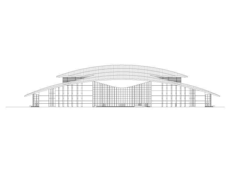吉林大型四层框架剪力墙结构剧院建筑施工图_1