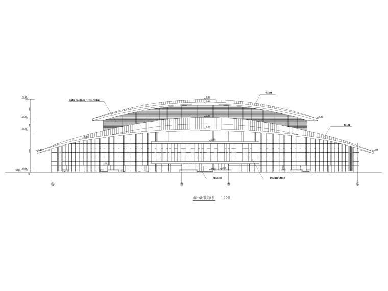 吉林大型四层框架剪力墙结构剧院建筑施工图_2