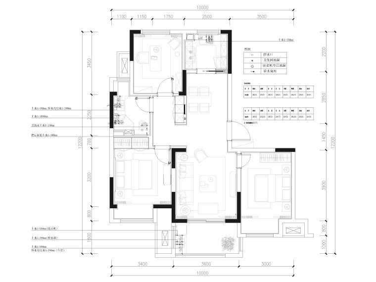 [江苏]85㎡现代两居室家装样板间装修施工图_4