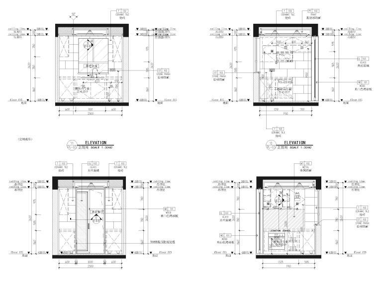 [江苏]85㎡现代两居室家装样板间装修施工图_8