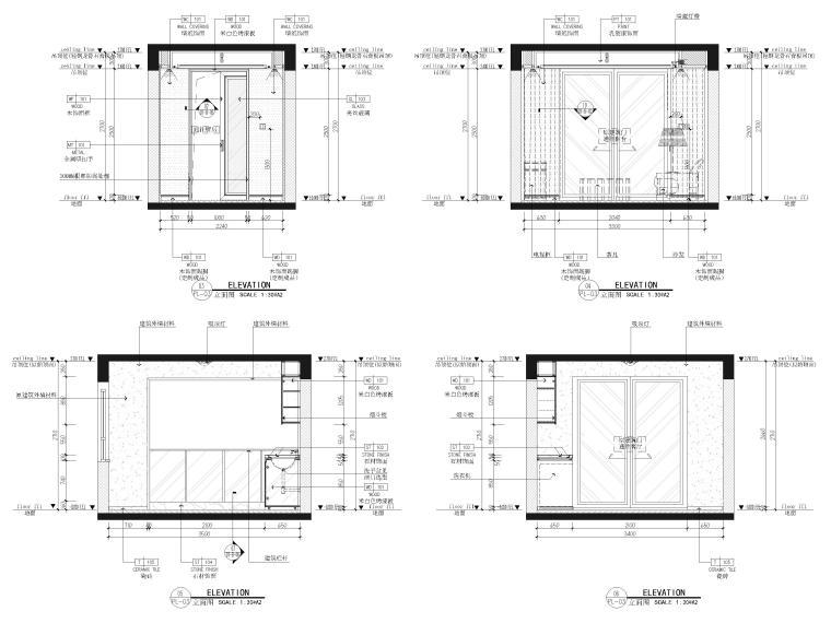 [江苏]85㎡现代两居室家装样板间装修施工图_7