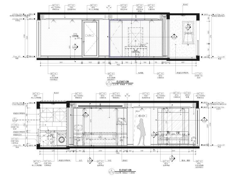 [江苏]85㎡现代两居室家装样板间装修施工图_6