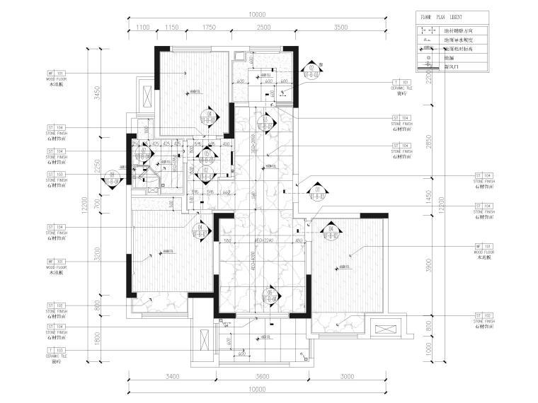 [江苏]85㎡现代两居室家装样板间装修施工图_3