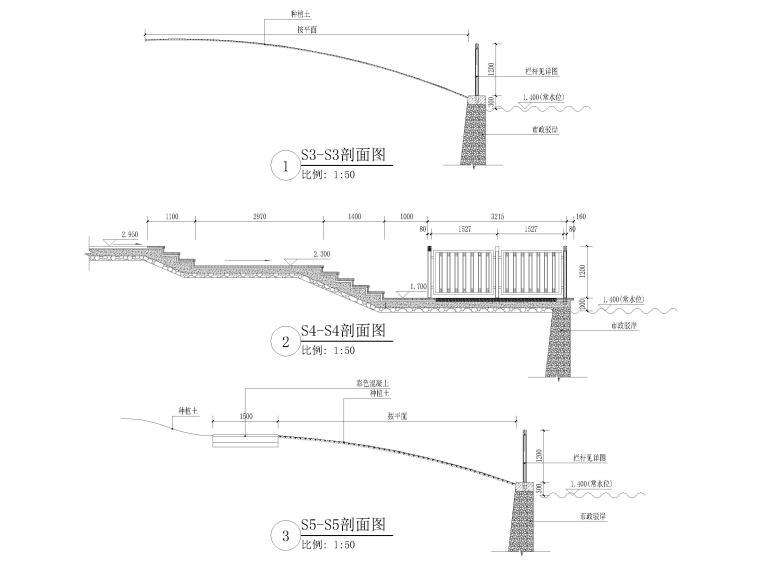 [浙江]宁波地铁站周边园林景观CAD施工图_8