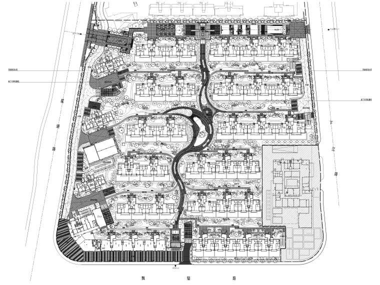 [浙江]宁波湾头居住区景观设计CAD施工图_1