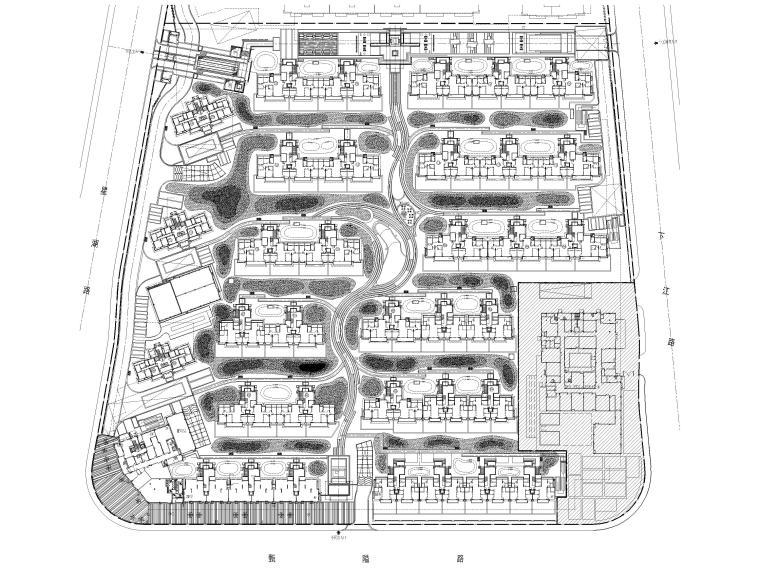 [浙江]宁波湾头居住区景观设计CAD施工图_3