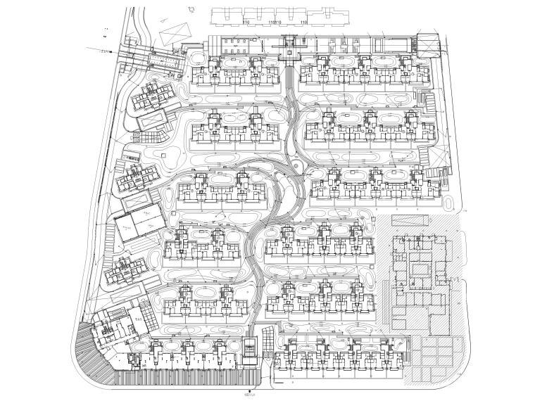 [浙江]宁波湾头居住区景观设计CAD施工图_7