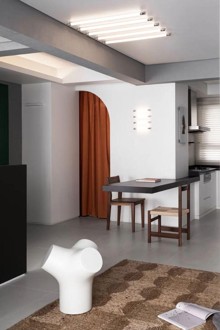 """68㎡两室一厅的""""美术馆"""",玩转空间戏法_9"""
