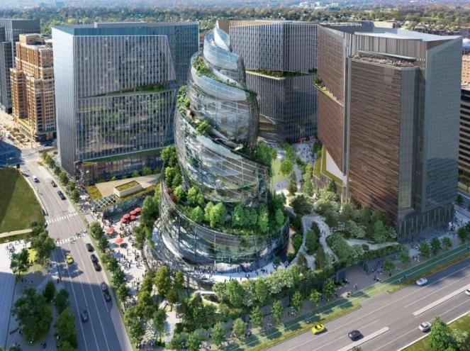 美国亚马逊公司的新总部螺旋塔