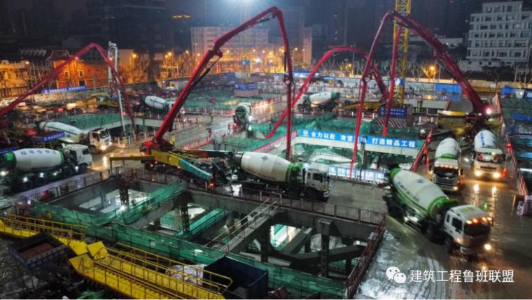 48小时完成3m厚15000m³底板浇筑!_2