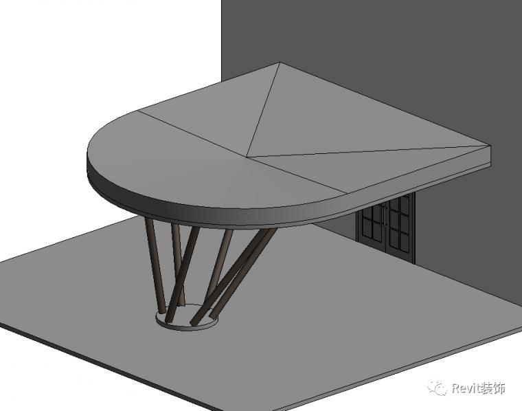 如何在Revit中制作斜柱雨棚_15