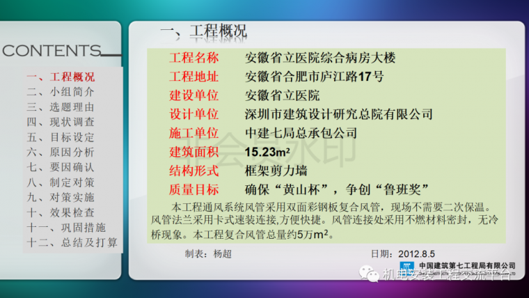 中建七局|省立医院机电安装QC成果_3