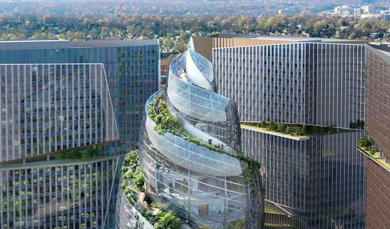 亚马逊新总部大楼方案问世,巨吸睛!_7