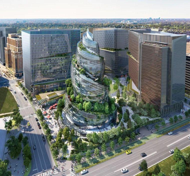 亚马逊新总部大楼方案问世,巨吸睛!_9