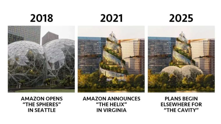亚马逊新总部大楼方案问世,巨吸睛!_23