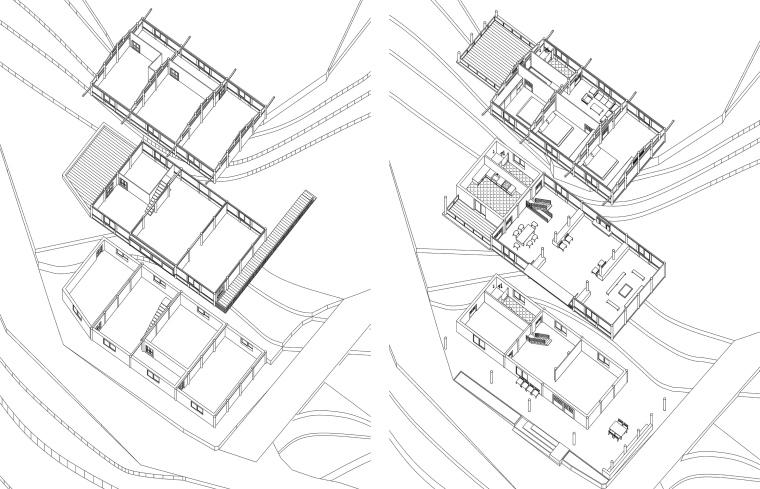 生长与对话:贵州龙塘精准扶贫设计实践-25 改造前后轴测图 ©gad · line+ studio.jpg