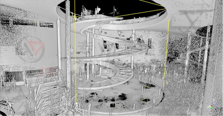 三维扫描在崇明花博会异形天桥及旋转楼梯测_5