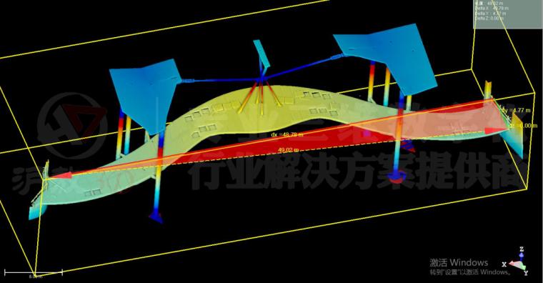 三维扫描在崇明花博会异形天桥及旋转楼梯测_6