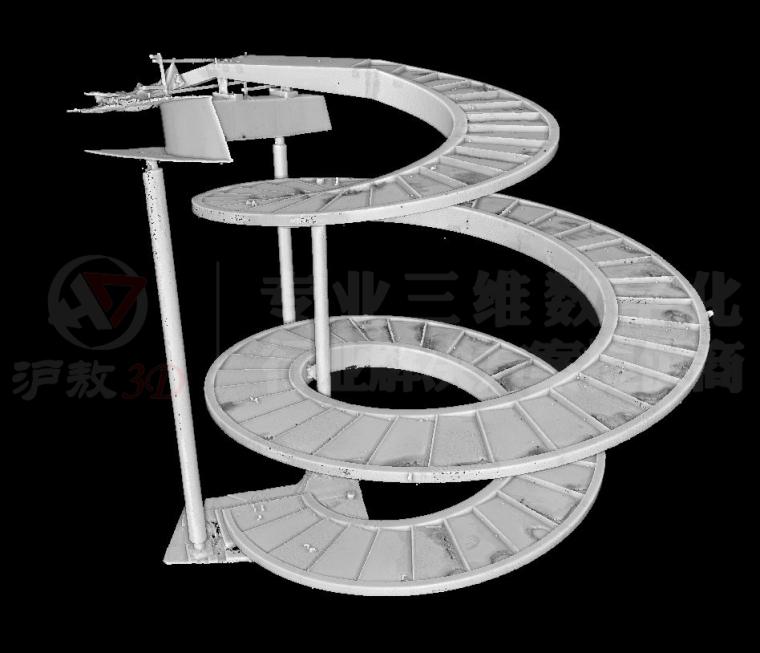 三维扫描在崇明花博会异形天桥及旋转楼梯测_8