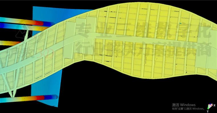 三维扫描在崇明花博会异形天桥及旋转楼梯测_7