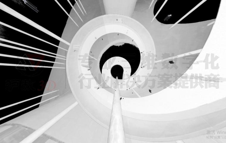 三维扫描在崇明花博会异形天桥及旋转楼梯测_9