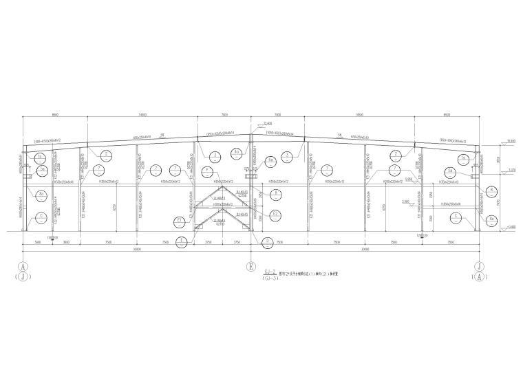 [京山]门式刚架结构产业园厂房结施图2016_2