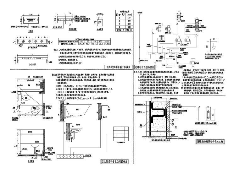 [广东]行政办公楼电气图纸(含防雷接地做法)_8