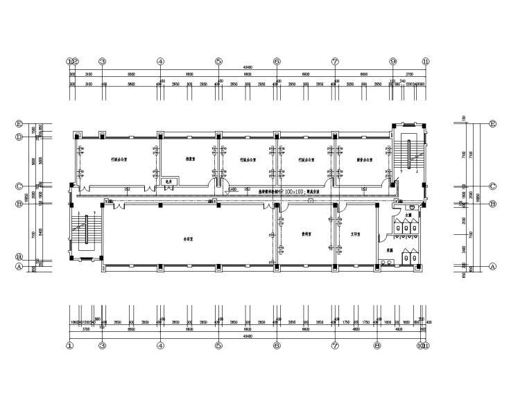 [广东]行政办公楼电气图纸(含防雷接地做法)_2