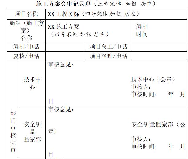 中铁_施工方案管理细则(50页word)-知名企业施工方案管理办法(50页)_4