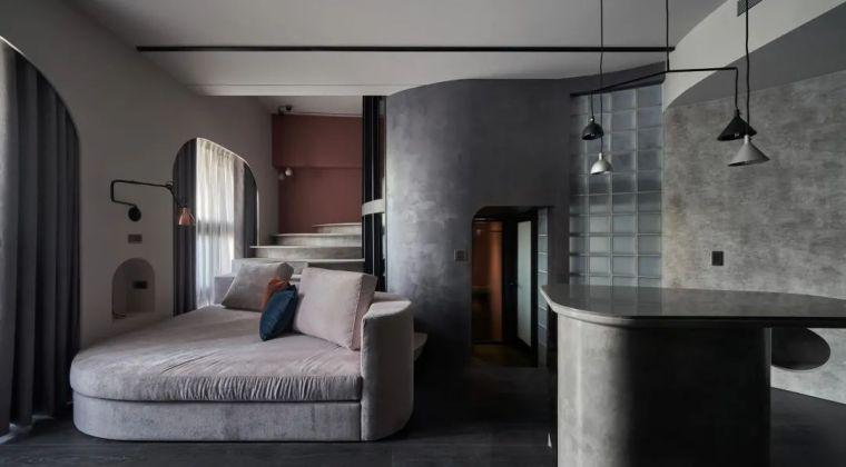 57㎡单人公寓,现代工业风错层空间_1