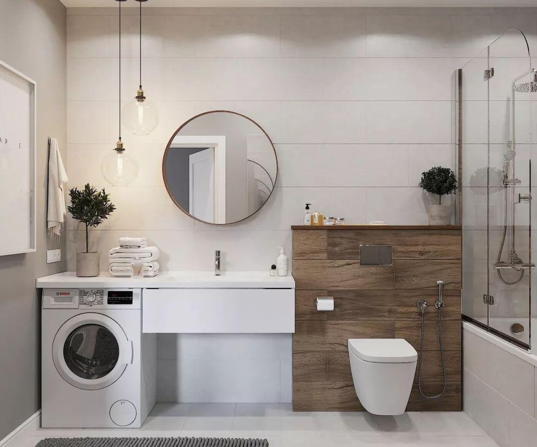 5�O的卫生间怎么放洗衣机?