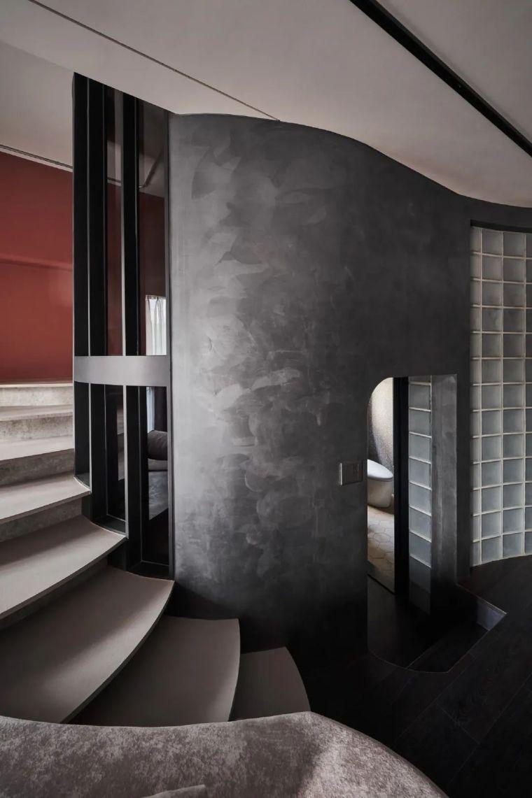 57㎡单人公寓,现代工业风错层空间_8