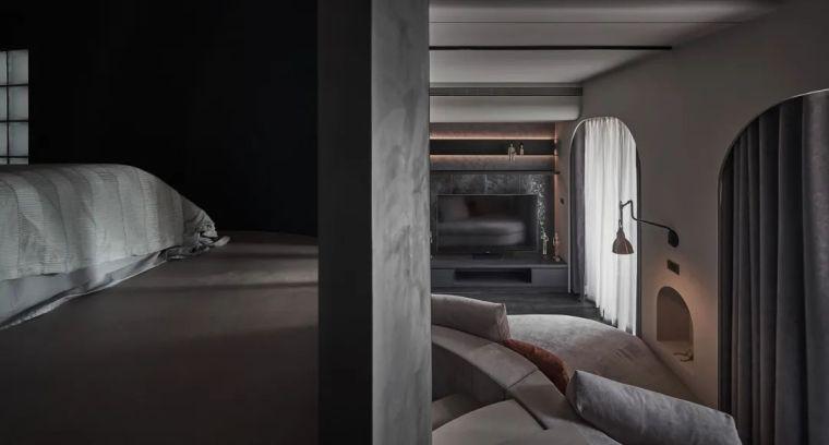 57㎡单人公寓,现代工业风错层空间_14