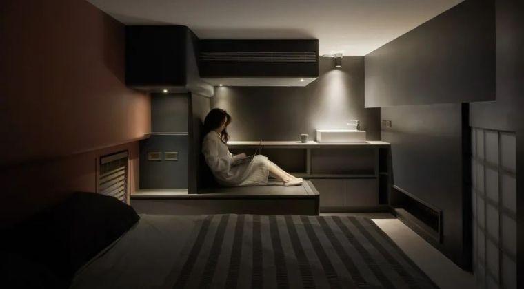 57㎡单人公寓,现代工业风错层空间_15