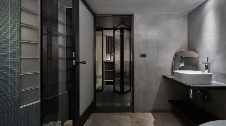 57㎡单人公寓,现代工业风错层空间_19
