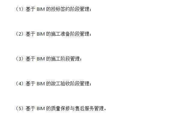 BIM在施工项目管理中的内容划分_2