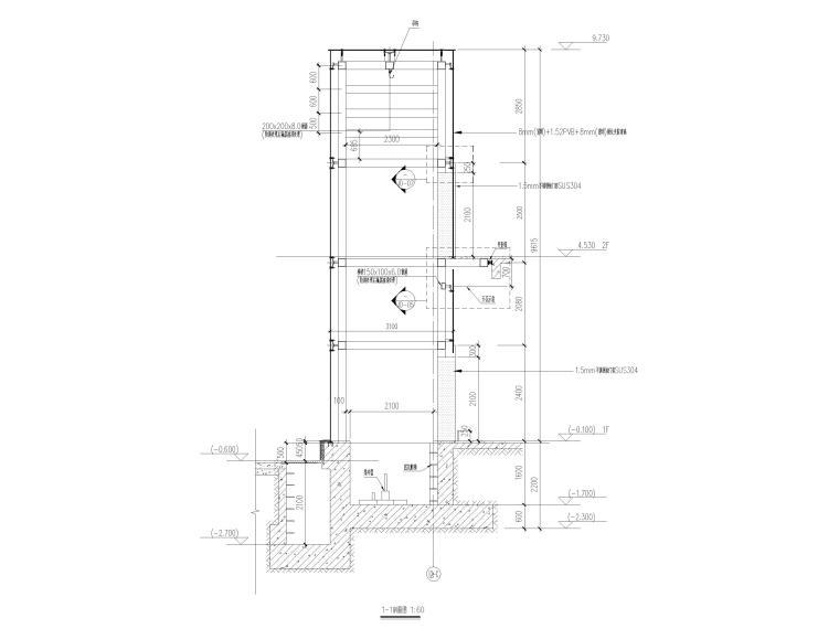 体育馆电梯幕墙竣工图2018(CAD)_3