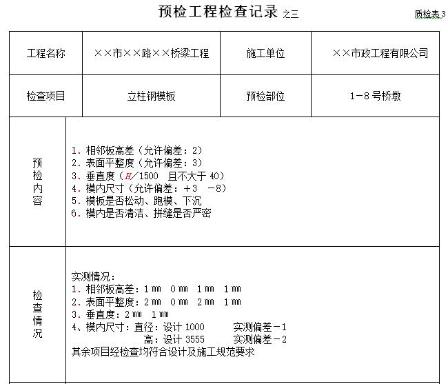 市政工程资料表格填写范例样本大全(178页)_6