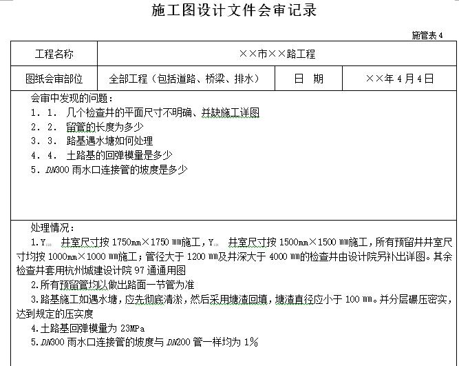 市政工程资料表格填写范例样本大全(178页)_3