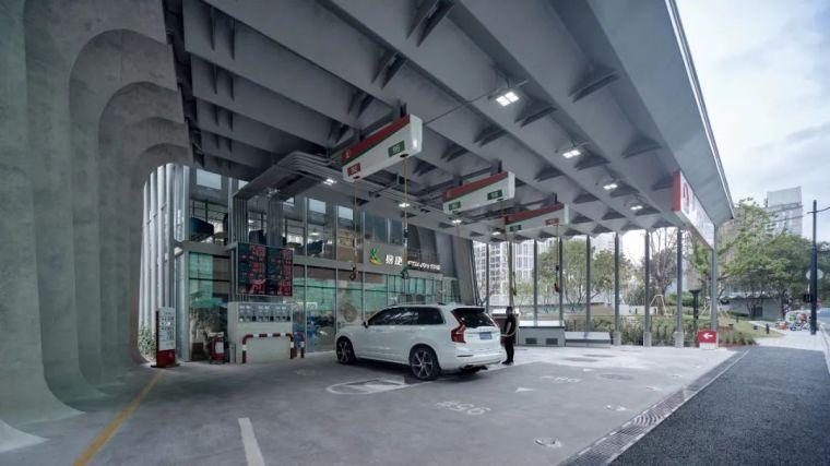 上海苏州河中石化加油站改造,钢折与砼折_8