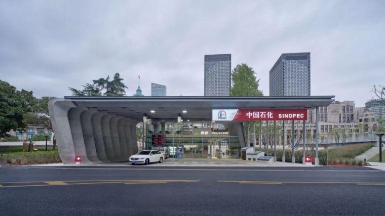 上海苏州河中石化加油站改造,钢折与砼折_7