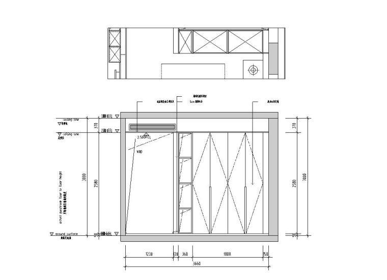 现代极简对白三居室住宅装修施工图设计_12