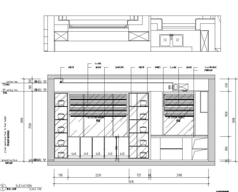 现代极简对白三居室住宅装修施工图设计_4