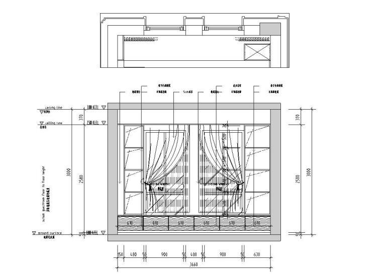 现代极简对白三居室住宅装修施工图设计_10