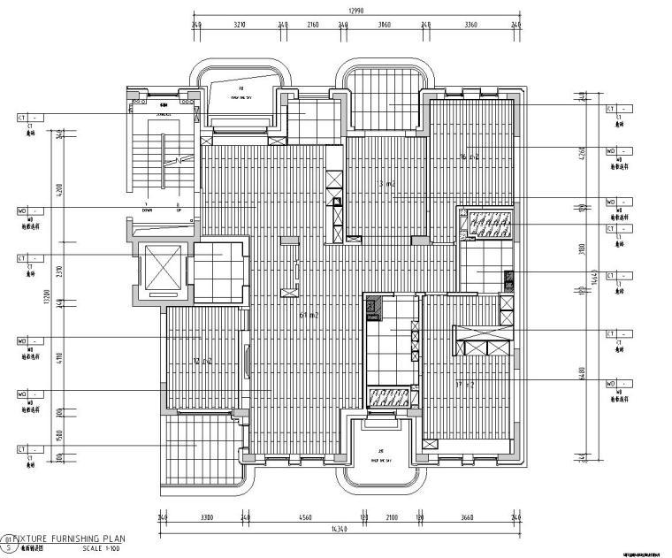 现代极简对白三居室住宅装修施工图设计_6