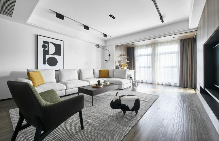 现代极简对白三居室住宅装修施工图设计_13