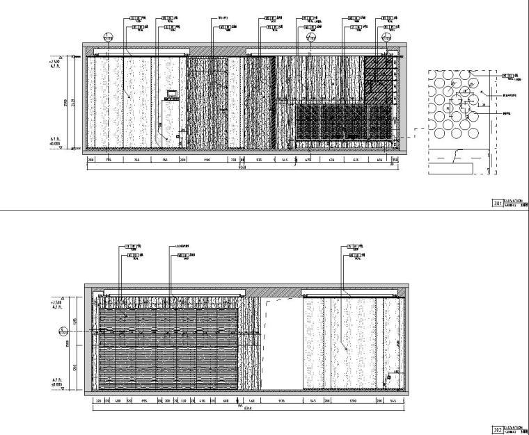 [浙江]朋克思潮115样板间装修施工图+实景图_8