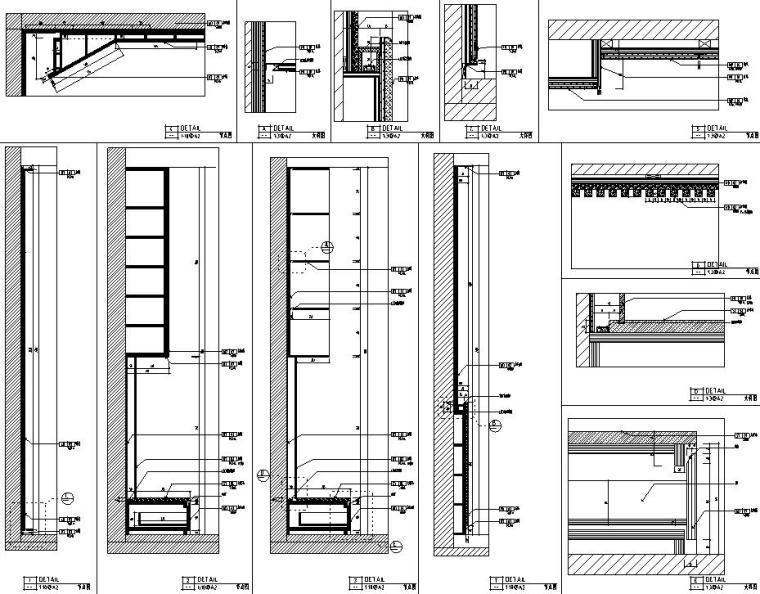 [浙江]朋克思潮115样板间装修施工图+实景图_11